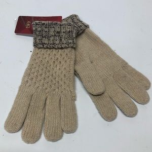 GSG Tan Wool Acrylic Bl Woman's Gloves New